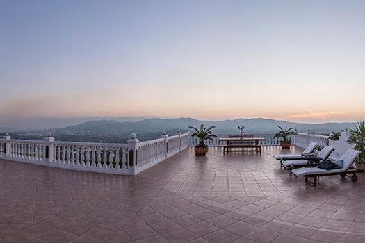 Organización eventos Ibiza, terraza panorámica
