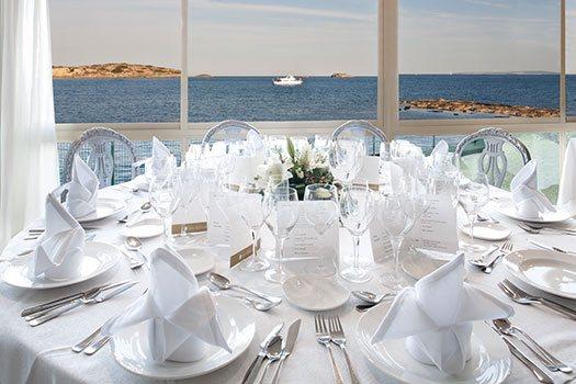 Restaurante panorámico Ibiza, organizador eventos