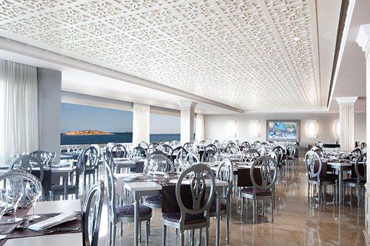Restaurante con vista mar, organización eventos Ibiza
