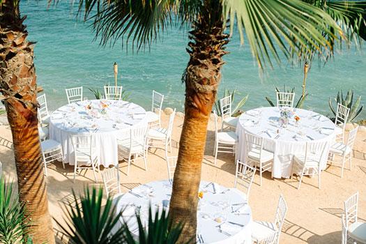 Selección de sitios, restaurante en la playa Ibiza, organización de eventos