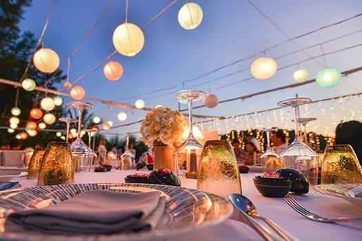 Servicio de decoración, organización de eventos en Ibiza